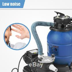 0.35HP Pro 2450GPH 13 Sand Filter Above Ground 10000GAL Swimming Pool Pump