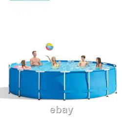 10' x 30 Outdoor Garden Round Metal Frame Above Ground Swimming Pool With Filter