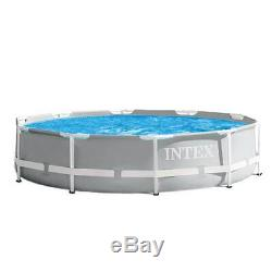 10ft x 30in Intex Prism Frame Durable Above Ground Swimming Pool with Filter Pump