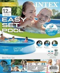 12' x 30 Intex Easy Set Inflatable Above Ground Swimming Pool & Filter Pump
