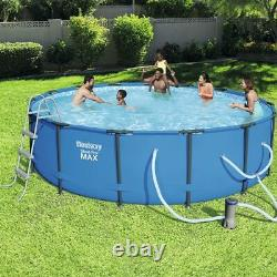 15' x 48 Bestway Round Steel Pro MAX Above Ground Swimming Pool Complete Set
