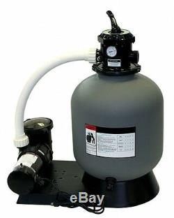 16 Above Ground Sand Filter System with 3/4 HP Pump 110 lb Sand Capacity