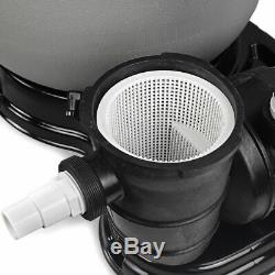19 Large Sand Filter 4500GPH with 1.5 HP Above Ground Swimming Pool Pump Set