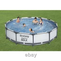 2021 Bestway Steel Pro MAX Above Ground Pool Set 12 Ft x 30 with Filter Pump