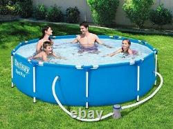 6in1 GARDEN SWIMMING POOL 305 cm 10FT Round Frame Above Ground Pool + PUMP SET