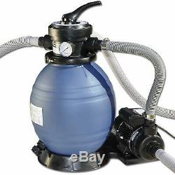 9600 Gallon Above Ground Swimming Pool Sand Filter System and Economical Pump