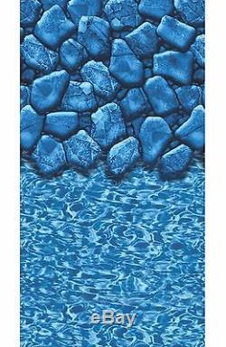 Above Ground 15'x30'x52 Oval Meadow Swimming Pool with Boulder Liner Step Filter