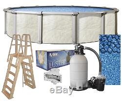 Above Ground 27 x 52 Round FALLSTON Swimming Pool with Liner, Ladder & Filter Kit
