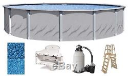 Above Ground 30'x52 Round GALLERIA Swimming Pool with Liner, Ladder & Filter Kit
