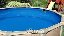 Above Ground 30'x52 Round Meadows Swimming Pool with Liner, Step, Filter Kit