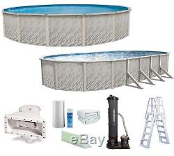 Above Ground Round or Oval Swimming Pool with Liner, Cartridge Filter & Ladder