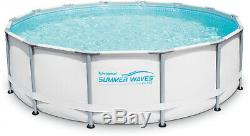 Above Ground Swimming Pool 14x42 with Filter Pump System Summer Waves Elite Fun