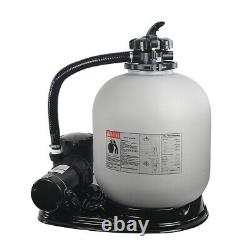 Above Ground Swimming Pool 19 Sand Filter with 1.5HP Pool Pump with Base Stand