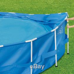 Above Ground Swimming Pool Metal Frame 15 x 33 Set with Skimmer Plus Filter Pump