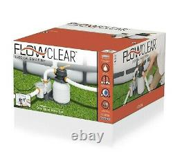 BestWay Flowclear 1500 Gallon Large Above Ground Swimming Pool Sand Filter Pump