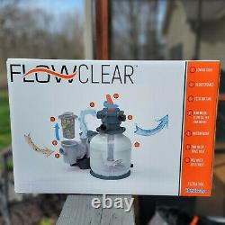BestWay Flowclear 2200 Gallon Large Above Ground Swimming Pool Sand Filter Pump