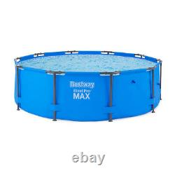 Bestway 10 Feet x 30 Steel Pro Max Round Above Ground Swimming Pool with Pump