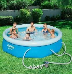 Bestway 10' x 30 Fast Set Above Ground Swimming Pool with Filter Pump