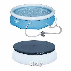 Bestway 10ft x 30in Above Ground Pool with Filter Pump, Intex Pool Round Cover