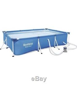 Bestway 13ft x 7ft x 32in Rectangular Above Ground Swimming Pool & Filter NEW