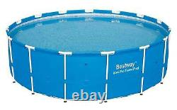 Bestway 15ft x 48in Steel Pro Frame Above Ground Pool withCartridge Filter Pump
