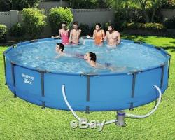 Bestway 56595 Pool cm 427x84h Steel pro Max above Ground Rounded with Filter Po