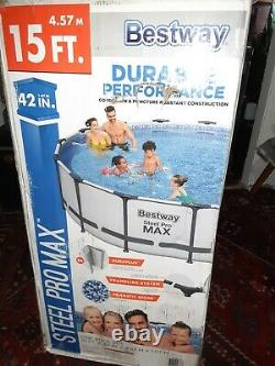Bestway 56687E Steel Pro MAX 15'x42 Above Ground Pool