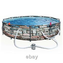 Bestway 56817E 12' x 30 Steel Pro Max Round Above Ground Swimming Pool with Pump