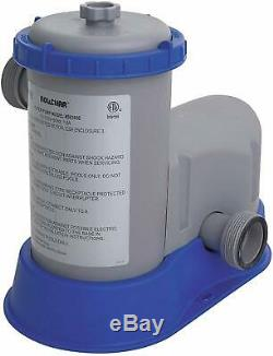 Bestway 58390E Flow Clear 1500 GPH Above Ground Swimming Pool Filter Pump