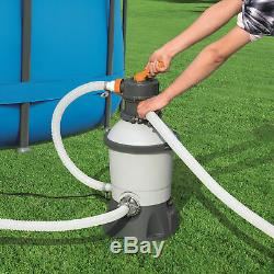 Bestway 58516E Flowclear 530 GPH Silica & Sand Swimming Pool Filter Pump, Gray
