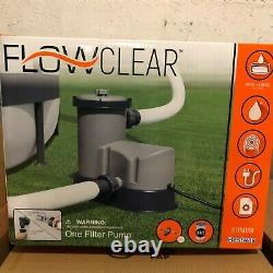Bestway Flowclear 58390E 1500 GPH Filter Pump for Above Ground Swimming Pool NEW