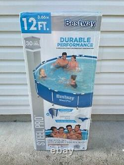 Bestway Frame Steel Pro Above Ground Pool Set 12 Ft x 30 with Filter Pump