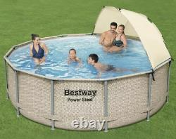 Bestway Power Steel 13' x 42 Above Ground Pool Set with Canopy FREE SHIP