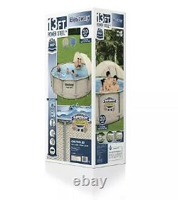 Bestway Power Steel 13' x 42 Above Ground Pool Set with Canopy Fast Shipping