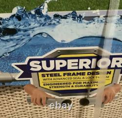 Bestway Power Steel 13' x 42 Round Above Ground Pool Set with Canopy