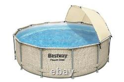 Bestway Power Steel 13' x 42 Round Above Ground Pool Set with Canopy -FREE SHIP