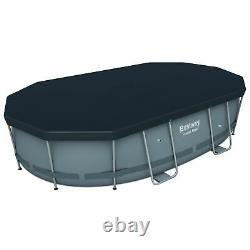 Bestway Power Steel 16' x 10' x 42 Above Ground Frame Swimming Pool Set with Pump