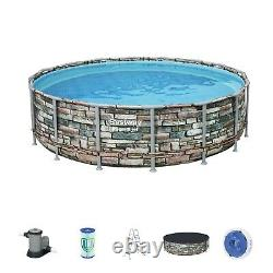 Bestway Power Steel 16ft x 48 Above Ground Pool with Filter Pump, Ladder & Cover