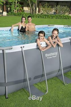 Bestway Power Steel 18ft x 9ft x 48in Above Ground Swimming Pool with Filter Pump