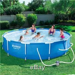 Bestway Steel 12' x 30 Frame Above Ground Pool Set with Filter Pump (Open Box)