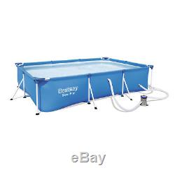 Bestway Steel Pro 118 x 79 x 26 Frame Above Ground Pool Set with Filter Pump