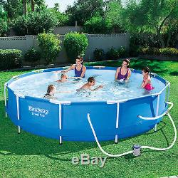 Bestway Steel Pro 12' x 30 Frame Above Ground Pool Set with Filter Pump