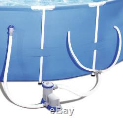 Bestway Steel Pro 12' x 30 Frame Above Ground Pool Set with Filter Pump (2 Pack)
