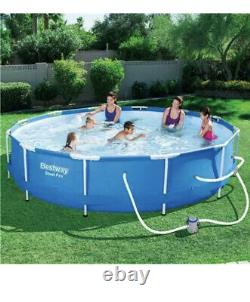 Bestway Steel Pro Above Ground Pool with 330 GPH Filter Pump 12'x30 Brand NEW