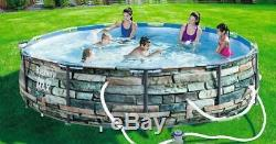Bestway Steel Pro MAX Above Ground Pool with 530 GPH Filter Pump 14'x33 NEW