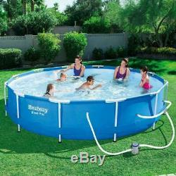 Bestway Steel Pro Max Above Ground Pool Set with 330 GPH Filter Pump, 12'x 30