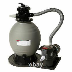 Blue Wave 18-in Sand Filter System with 1 HP Pump for Above Ground Pools