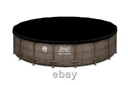 Coleman 18 ft x 48 in Power Steel Frame Round Above Ground Pool Set Easy Setup
