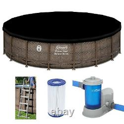 Coleman 18 x 48 Power Steel Frame Deluxe Series Above Ground Swimming Pool