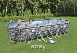 Coleman 26ft x 12' x 52 Power Steel Oval Above Ground Pool Set with WiFi Pump NEW